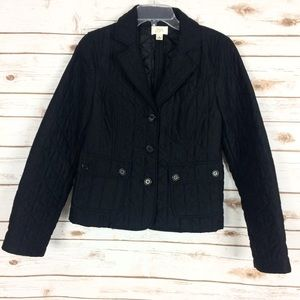 LOFT black quilted jacket